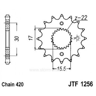 Esihammasratas CRF50/70/80 (420 ketile)